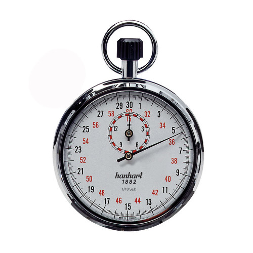 Hanhart 112.0401-00 Crown Stopper Mechanical Stopwatch