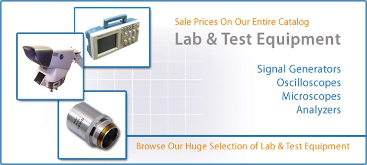 Save on New and Used Lab & Test Equipment