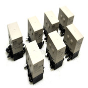 (Lot of 7) Omron G7J-4A-B General Purpose 25A Power Relays w/ 24VDC Coil