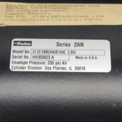 "NEW Parker CBB2ANUS18AC Pneumatic 2A/2AN Air Cylinder (7"" Bore/3.25"" Stroke) SAE"