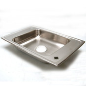 "Elkay Pacemaker Stainless Single-Basin Utility Sink Ext. 25""x17"" Sink 16""x13.5"""