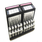 (2) GE Fanuc IC670MDL240J 120VAC 16PT Input Modules w/ IC670CHS002E 2-Tier Base
