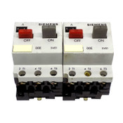 (Lot of 2) Siemens 3VE1000-8K Contactor 20A 300VAC 5-8A AC3 VDE 0660 IEC 157-1