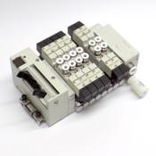 (Lot of 8) CKD N4GA1 Solenoid Air Valve Manifold w/ (6) 3GA1669-A2NH, 24VDC, 6mm
