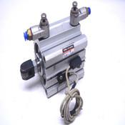SMC NCDQ2KA63-50D Pneumatic Actuator w/(2) D-F79 Sensors + (2) AS2200 Valves