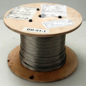 """NEW 50 Feet Alpha Wire 2176 Braided Sleeve Tubing Tinned Copper 25/32"""""""