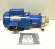 Leeson C6C34FK87B 1-Hp 1-Phase AC Motor & Non-Metallic M10 Pump Molded Polypro