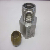 """NEW Autoclave Engineers 6MX-166K8 316SS 1"""" Male x 3/8"""" Female Pressure Adapter"""