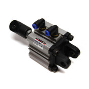 SMC Pneumatics NCDQ2D40-5DM Double-Acting 40mm Compact Air Cylinder 5mm Stroke