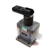 "CKD Corporation TMD30-15BUS-10-T Manual Toggle 1/2"" Chemical Liquid PFA Valve"