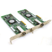 Lot of 2 Dell QLogic QLE2460 Single Port 4Gb Fibre Channel Network Card PF323