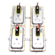 (Lot of 4) Columbus Electric RH270000R Air Pressure Sensing Switches
