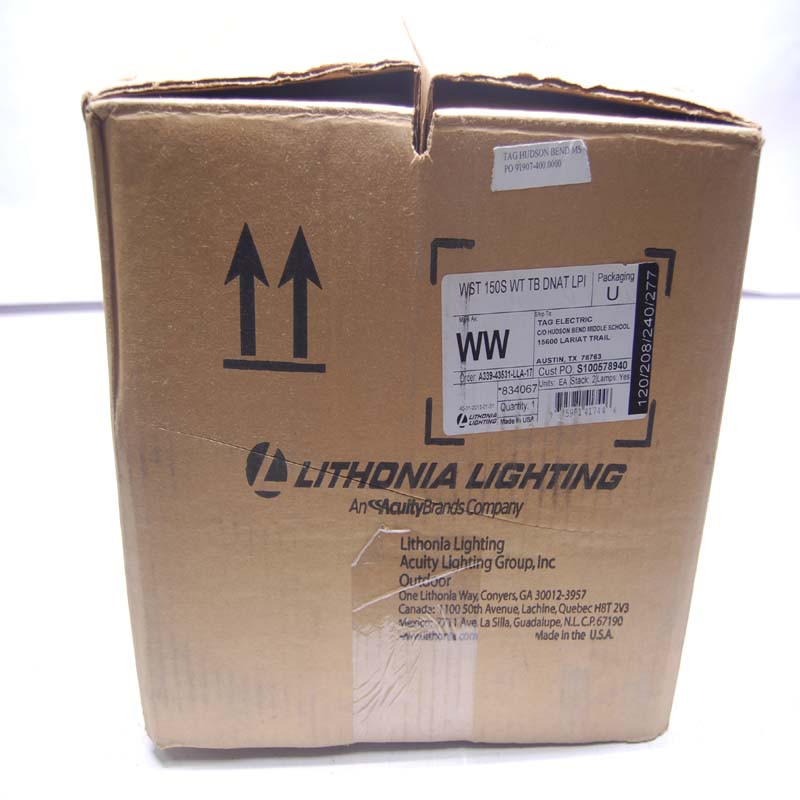 New Lithonia Lighting Wst 150s Wt Tb Dnat Lpi Architectural Sconce Wall Pack