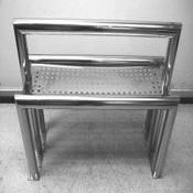 "NTA Industries 3106C5 Stainless Steel Clean Room 48""W Perforated Dual Lean Rail"