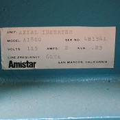 Amistar AI800 AI-800 Axial Inserter for PARTS/Repair missing a circuit board