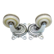 "(Lot of 2) Industrial 7L100-125 Welded White Steel Swivel Casters 4"" Wheels"