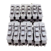 (Lot of 12) Entrelec MD10/22S Din Rail Mount Terminal Block Fuse Holder MB1022S