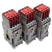 (3) Allen-Bradley 700-CF310D / 100-C16Z10 Control Relays w/ 100S-F Contactors
