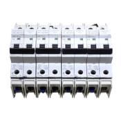 (4) Cutler Hammer WMTC2001, WMTC2003, WMTC2004, WMTC2006 2-Pole Circuit Breakers