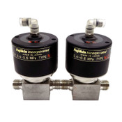 (Lot of 2) Fujikin 095127 Diaphragm Valves O.P. 0.4~0.6 MPa Type N.C.