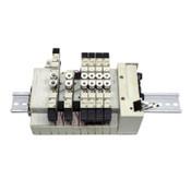 (8) CKD N4GA1-V2 Solenoid Air Valves w/ (5) 3GA1669, (1) 4GA119-A2NH, Block