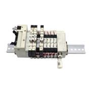 (8) CKD N4GA1-V2 Solenoid Air Valves w/ (3) 3GA1669, N4G1-T50 Terminal Block