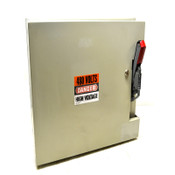 """Steel Hinged 21"""" x 16"""" x 11"""" Safety Switch Enclosure w/ GE 100A Circuit Breaker"""