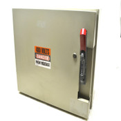 "Steel Hinged 21"" x 16"" x 11"" Safety Switch Enclosure w/ GE 100A Circuit Breaker"