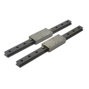"(2) Linear Motion 15"" (381mm) Guide Rails w/ (2) 2"" x 1-3/4"" Slide Blocks"