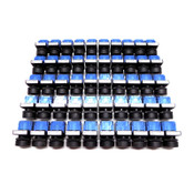 (50) Fuji AR22/AR22FOR Black 250V 6A Round Push Button Momentary 2-Wire Switches