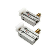 (Lot of 2) SMC Pneumatics CU6-5S Compact Air Cylinders 6mm Bore / 5mm Stroke