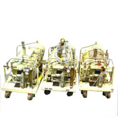 (3) Ebara A10 Multi-Stage 1200 L/min Dry Vacuum Pumps 208VAC 3-Phase Motor AS/IS