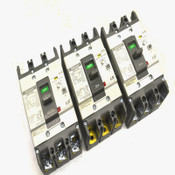 (3) Metasol LS EBN-53c 3-Pole 30A Molded Case ELCB Circuit Breakers 220-460V