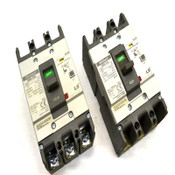 (2) Metasol LS EBN-53c 3-Pole 40A Molded Case ELCB Circuit Breakers 220-490V