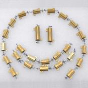 Lot: 26 Dale RH-25 and RH-50 50W 25W Power Resistors 75 ohms 1% Aluminum Housing