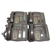 Lot of 4 Avaya Lucent 6424D+ Digital Telephone w/ 24 Programmable Buttons Grey