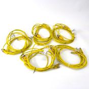 (Lot of 5) Turck Splitter VBRS 4.4 2PKG 3M-2/2 U0117-33 Euro Fast Cables