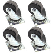 "(4) Nanshin Casters 3"" x 1.5"" Industrial Swivel Heavy Duty Steel Non-Locking"