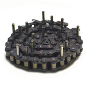 """90"""" Size 60 Conveyor Single Roller Chain Attachment Extended Pin Lug"""