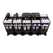 (Lot of 5) Schrack / B&J KG3-10A00-40 Contactors 24VDC 4NO w/ Auxiliary Contacts
