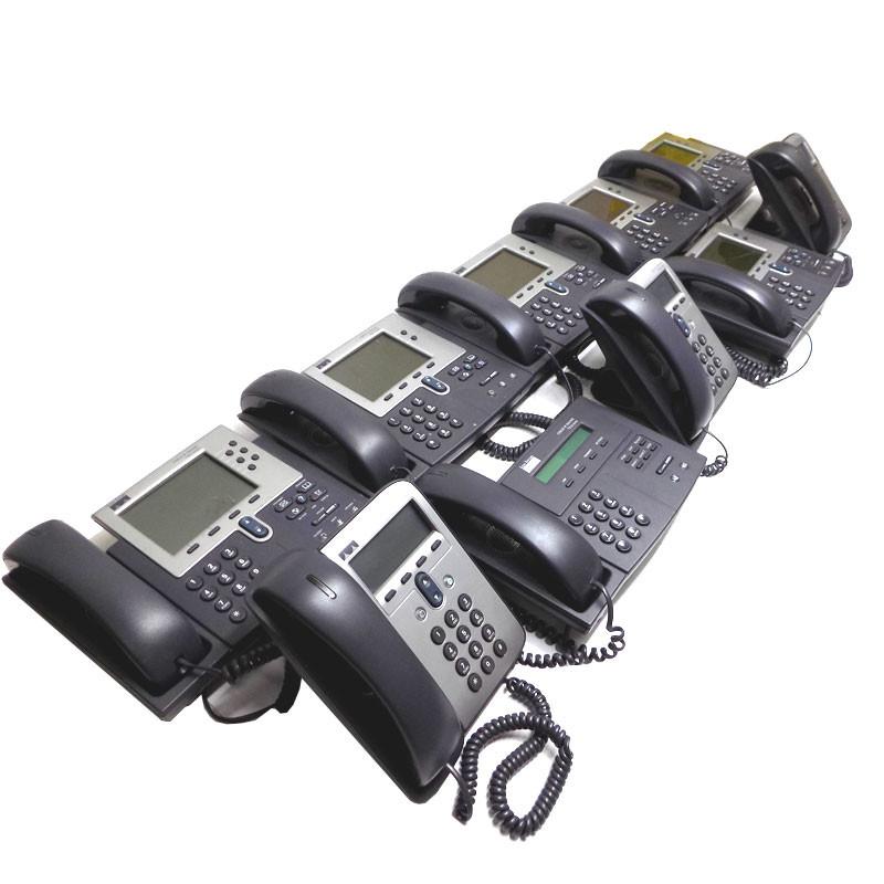 (10) Cisco IP Phones 7905 7910 7960 7940 7941 Series VOIP Mixed Lot  Programmable