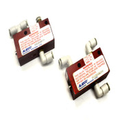 "(2) Aladco 301201-BSPP 1/8""NPT Nu-Check Pneumatic Valves w/ Override Button"