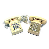 Vintage Push Button Desktop Phones Metal Bell Ringers (2)