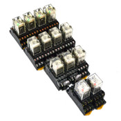 Omron MY4N Miniature 4-Pole Power Relays w/ Indicator and Sockets (13)
