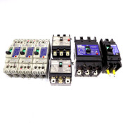 (Lot of 7) Mitsubishi NV30-KB NV100-KB NF30-SP NV100-SF No-Fuse Circuit Breakers