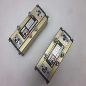 Lot of 2 Ross Controls W6077B3407 1-10 Bar Pneumatic Solenoid Control Valves