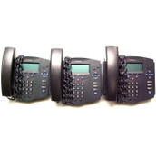 Lot of 3 Polycom SoundPoint IP430 SIP Phones 2201-11402-001 w/o Adapters