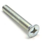 (Box of 1,000) M6-1.0 x 40mm DIN 965 Phillips Flat Head Machine Screws, Zinc