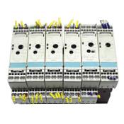 (6) Siemens 3RP1513-2AQ30 3RP1540-2BB30 3RS1002-2CD10 3RS1002-2CD20 Timer Relays