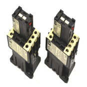 (2) Lovato BF25 600V Starter Contactors 240V Coil w/ G480/20 Aux. Contact